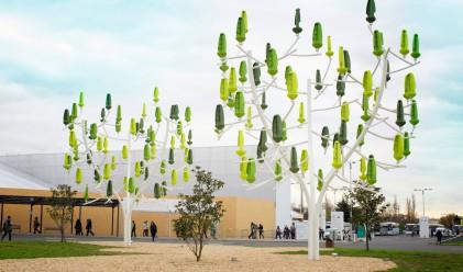 Изкуствено дърво генерира вятърна енергия за дома