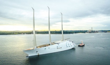 Яхтата на Мелниченко за 400 млн. долара с първо плаване