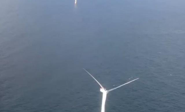 Първата плаваща вятърна ферма в света започна производство