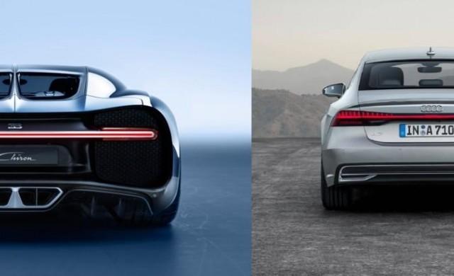 Какво е общото между новото Audi A7 2018 и Bugatti Chiron?