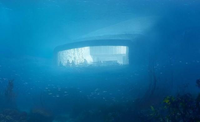Първият подводен ресторант в Европа свързва морето и сушата