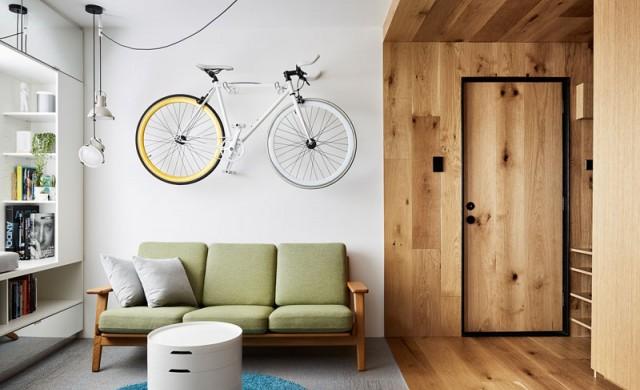 Малък апартамент с изобилие от скрити елементи