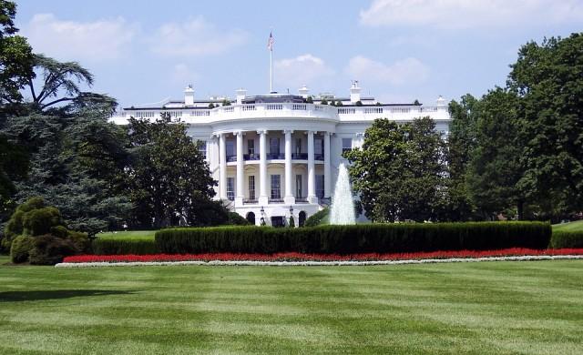 Мишка падна от тавана в Белия дом и паникьоса репортери (видео)
