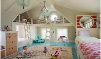 Детска стая за четирима: 10 красиви идеи