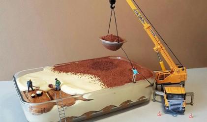 Италиански сладкар създава миниатюрни светове от десерти