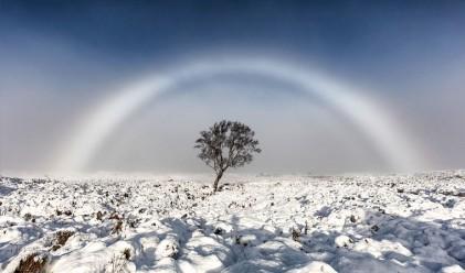 Заснеха рядък феномен - бяла дъга