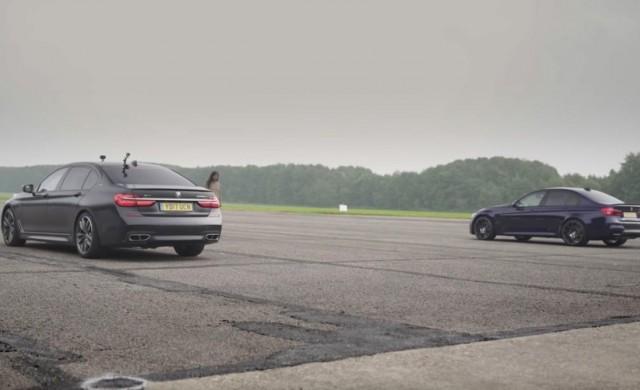 Най-бързият седан BMW 7 в битка с BMW M3