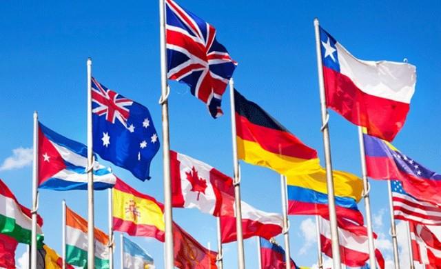 Цветът, който не присъства в нито един държавен флаг