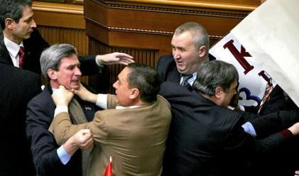 Отново бой в украинския парламент