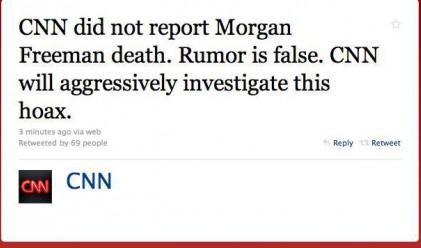 CNN обяви Морган Фрийман за мъртъв по грешка