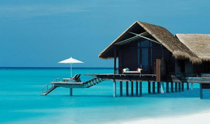Виктория и Дейвид на Малдивите (снимки)