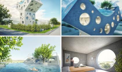 Къща във формата на Y ще заинтригува фантазията ви