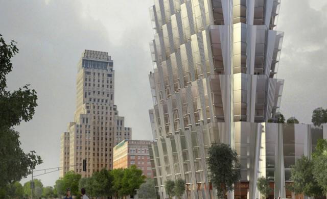 Причудлива кула за сто апартамента в Сейнт Луис