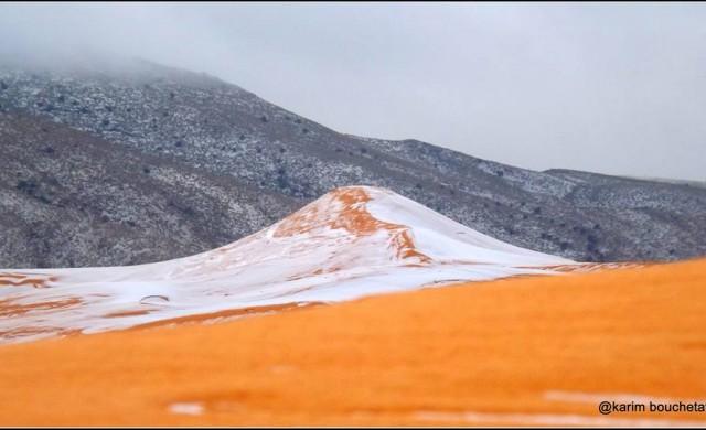 Сняг заваля в Сахара за първи път от близо 40 г.
