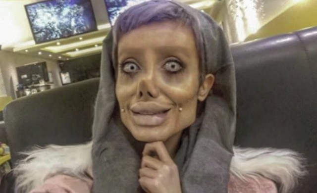 Тя иска да прилича на Джоли, но хората я наричат зомби