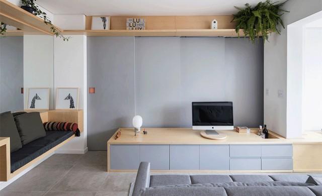 Този малък бразилски апартамент разполага със скрита спалня
