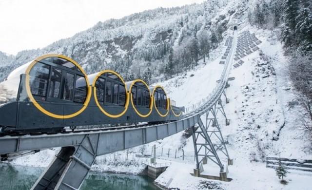 В Швейцария създадоха най-стръмния фуникуляр в света