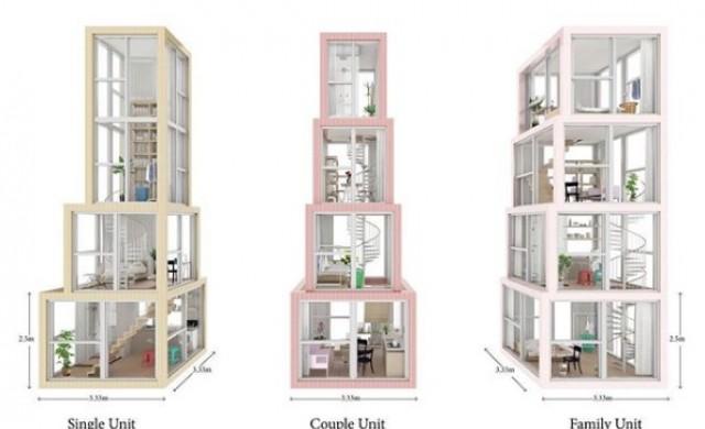 Кула в кулата: небостъргач предлага вертикални апартаменти