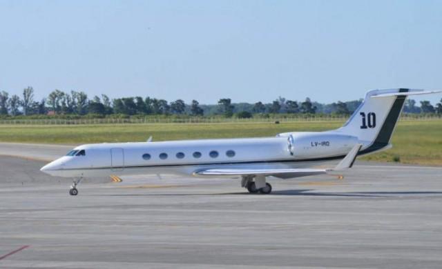 Самолетът на Лео Меси (снимки)