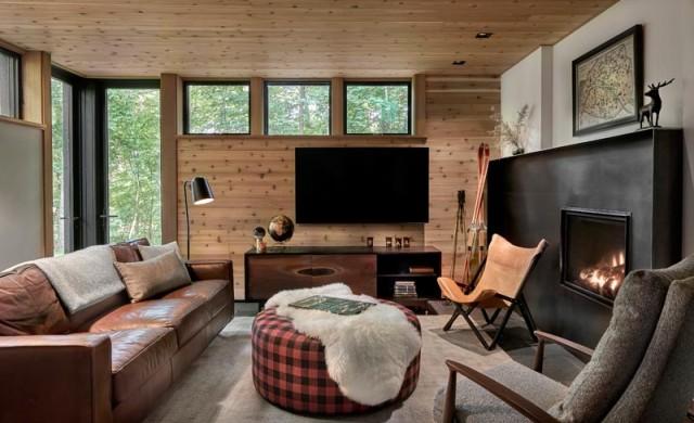 Къща в гората, проектирана за отмора през уикенда