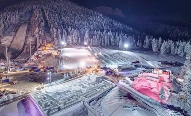 Малко градче в Полша е дом на най-големия снежен лабиринт в света