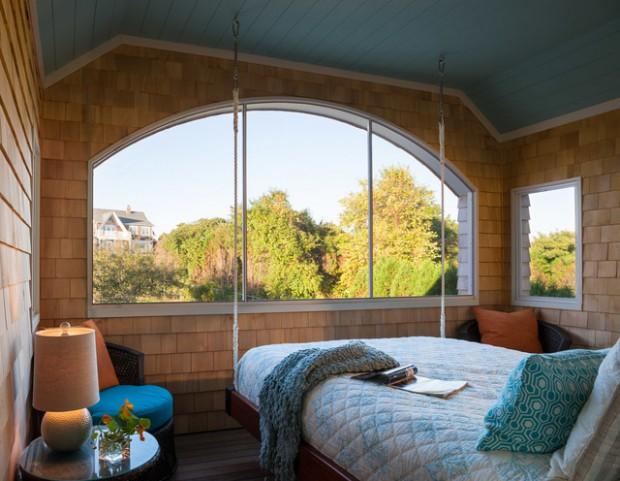 9 красивых подвесных качелей и кроватей