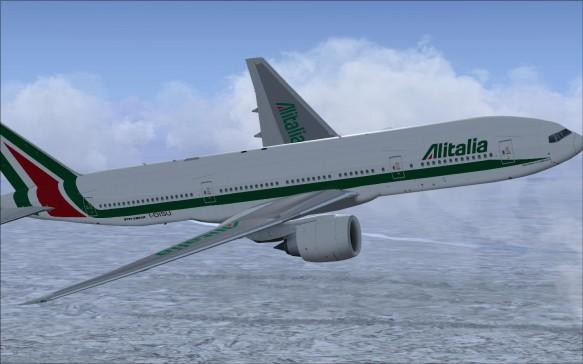 FSX Alitalia Boeing 777-200.  This is a repaint for the B777-200 v2 by Project Open Sky.  This pack contains the...